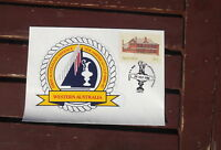 FIRST AUST DEFENCE WA  PICTORIAL POSTMARK COVER WITH STICKER 1986