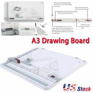 Pro  A3 Drawing Drafting Board Ruler Table Adjustable Angle Tool Set