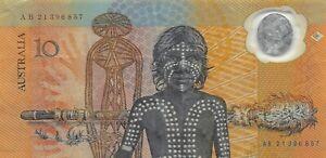 Australia  $10  ND. 1988  P 49b  Series AB  Commemorative  Circulated Banknote