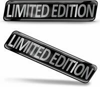 2 x 3D Limited Edition Sticker Logo Silver Domed Decal Badge Emblem Car KS 170