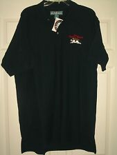 NWT Men's BIG DOGS Golf CANINE CLASSIC Navy Blue Cotton polo Shirt Sz XL