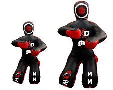 "Brazilian Grappling Kneeling Dummy MMA Wrestling Judo Art Leather- Black/Red 59"""