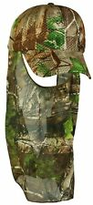 Air Mesh Lite Weight Hunting Cap Hat & Face Mask Net Realtree Xtra Green Camo