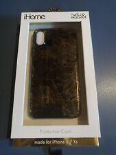 iPhone X / Xs designer case- Gold Flowers - Designed In NYC - Unique
