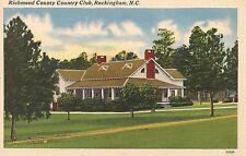 Richmond County Country Club Rockingham NC Postcard