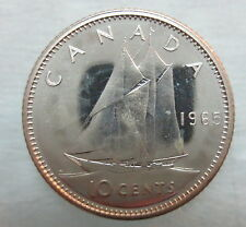 1965 CANADA 10 CENTS PROOF-LIKE SILVER COIN