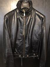 John Richmond Mens Leather 'World Tour' Jacket Size 50IT