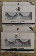 e.l.f. Dramatic Lash Kit Black Eyelashes & Glue 2 Sets Faux Lashes e.l.f. #1714