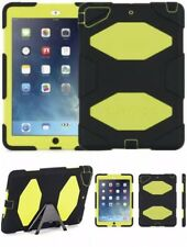 Genuine Griffin Survivor Military Duty Tough Case Cover iPad Air Black Citron