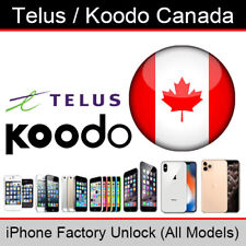 Telus / Koodo Canada iPhone Factory Unlocking Service (All Models Supported)