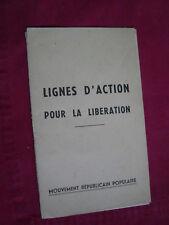 facicul lignes d'action pour la liberation 1964 mouvement republicain populaire