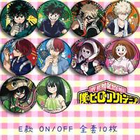 8pcs Sets My Boku No Hero Academia Badge Pin Button Bags Garniture Brooch #K15
