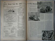1953 Renault 750 Original Motor magazine Road test
