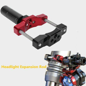 1PC Motobike Adjustable Rod Headlight Fixed Bracket Spot Light Extension Lever
