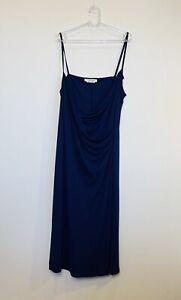 Marina Rinaldi (Max Mara) Size L (18-20) Blue Dress Made In Italy Designer