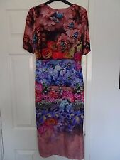 ASOS Pink Purple Flower Silk Dress Wedding Occasion 10