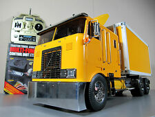 Custom Tamiya R/C 1/14 GlobeLiner Convert to Delivery Semi Truck + MFC-01 Futaba