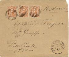P5588   Modena, MIRANDOLA, annullo numerale a sbarre 1889