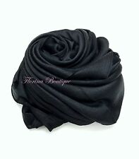 💗Crystal fabric Hijab plain scarf wrap occasion Party hijabs top quality Eid