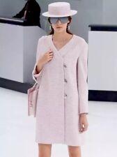 $8K Chanel 16C Pink tweed Over Coat Jacket Dress Blazer CC Button FR 42 U.S 8 10