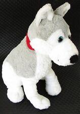 """B J Toy Wolf Stuffed Plush Gray Akita Dog Alaskan Malamute Husky Puppy 17"""" Euc"""