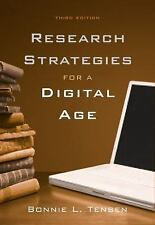 Research Strategies for a Digital Age by Bonnie L. Tensen (2009, Spiral)