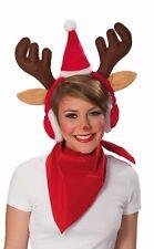 Rubies 4350546 - Elch Haarreif mit Ohrenschützer * Nikolaus Weihnachten Mütze