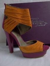 Fergie Size 7 M Chipper Fuchsia Leather Open Toe Heels New Womens Shoes
