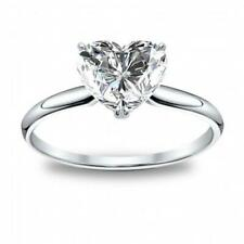 Certified 1.00 Carat F-VS1 Natural Diamond SOLITAIRE Wedding Engagement Ring