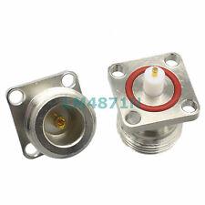 5pcs Connector N female 4-hole 18.5mm flange waterproof Oring solder panel mount