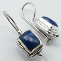 "Drop/Dangle Earrings Jewelry 1"" ! 925 Silver NAVY BLUE LAPIS LAZULI Fix Wire"