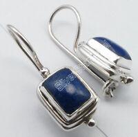 """Drop/Dangle Earrings Jewelry 1"""" ! 925 Silver NAVY BLUE LAPIS LAZULI Fix Wire"""