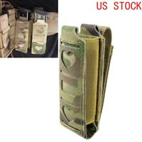 Tactical MOLLE Single Magazine Pouch Elastic Pistol Mag Pouch Tools Belt Pouch