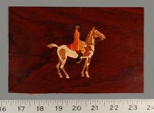 Rare Salesman Sample Equestrian Intarsia Panel from Buffard Freres (Mrq-35)