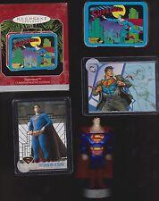 L@@K SUPERMAN  LOT ~ FIGURE ~2 CARDS~HALLMARK LUNCH BOX~