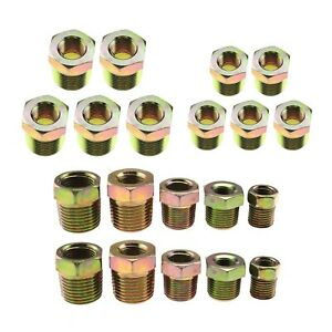 5-Sized/ 1/8 to 3/8 / 1/4 to 1/2 Threaded Bush Fitting Set Female to Male BSP