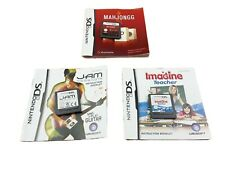 3x DS Games Jam sessions Mahjongg  Imagine Teacher game and manuals only