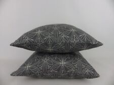 "John Lewis Cummersdale Fabric Pillow Cushion Covers 16"" Grey"