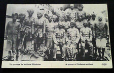 Carte Photo 1914-1918 Soldats Hindous WW1 Group of Indians soldiers postcard