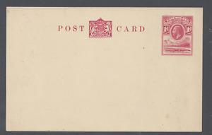 BASUTOLAND GV 1d POSTAL STATIONERY POST CARD  UNUSED