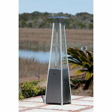 Fire Sense Stainless Steel Pyramid Flame Patio Heater, 20.5L x 20.5W x 88.3H in