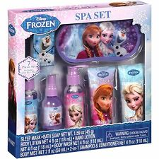 NEW NIP Disney Frozen 7 Piece Spa Gift Set Lotion Body Wash Shampoo Soap Elsa