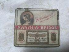 Ancien paquet boite de cigarettes tole publicitaire XANTHIA