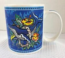 HILO HATTIES Blue Coffee Cup Mug Dolphin Maui Tropical The Store of Hawaii 2002