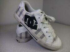 DC Chelsea SE Sz 8 Womens EUR 39 302252 WHITE/PLAID Skateboarding Shoes GUC