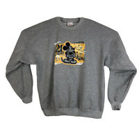 Vtg Womens XL Disney Store Mickey Mouse Pullover Sweatshirt Crewneck Gray #28