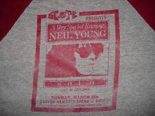Vintage RARE 1980s NEIL YOUNG CONCERT RAGLAN JERSEY T SHIRT Iowa City IOWA Tee M
