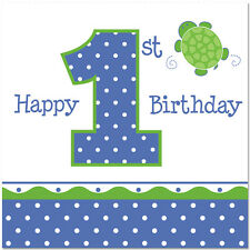 Turtle Mr Turtle 1st Birthday Party Supplies Large Lunch Napkins