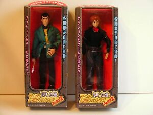 LUPIN III 2001 PART 2 FIGURES: LUPIN & FUJIKO ( NEW IN BOX, MINT) FREE SHIP/GIFT
