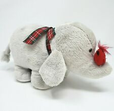 GANZ GREY ELEPHANT & FRIEND RED CARDINAL BIRD STUFFED ANIMAL PLUSH TOY 87663 BOW